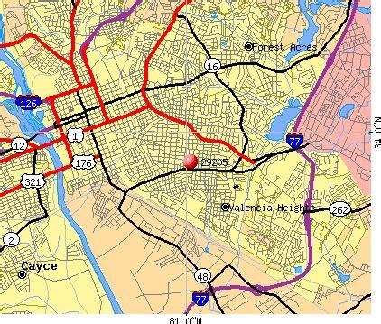 Records Columbia Sc Columbia Sc Zip Code Map My