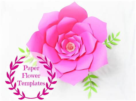diy paper flower template diy wedding paper flowers flower templates svg cut files