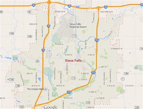 map  sioux falls