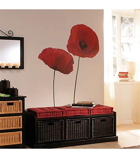 poppy home decor home decor poppies wall decal 4 piece set at joann com