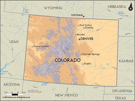 state map of colorado detailed clear large road map of colorado and colorado
