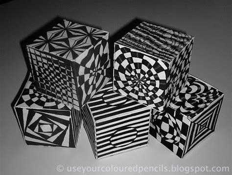 image gallery op art cubes template