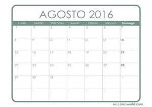 Calendario Agosto 2016 Calendario Agosto 2016 Calendario Para Imprimir
