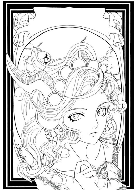 Halloween Coloring Pages Advanced | autumn halloween by king anne on deviantart coloring