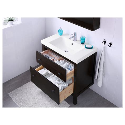 Stands With Drawers by Odensvik Hemnes Wash Stand With 2 Drawers Black Brown