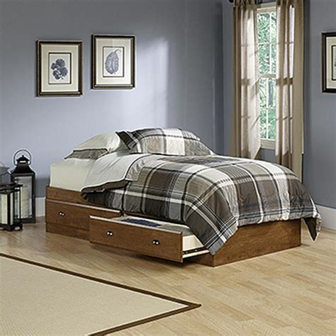 sauder twin bed sauder shoal creek twin wood storage bed 411899 the home