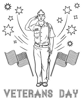 veterans day coloring page to print happy veterans day printable coloring pages clip arts