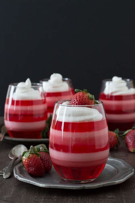layer dessert in glass layered strawberry jello cups the year