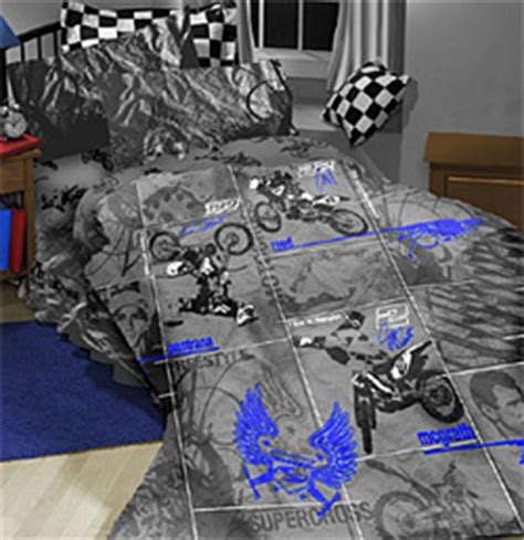 dirt bike bed set motocross bedding set full