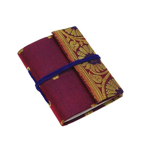 handmade sari notebook by paper high notonthehighstreet