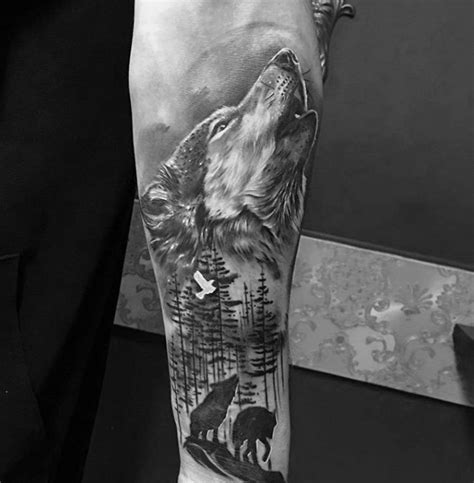 wolf sleeve tattoo designs 40 wolf forearm designs for masculine ink ideas