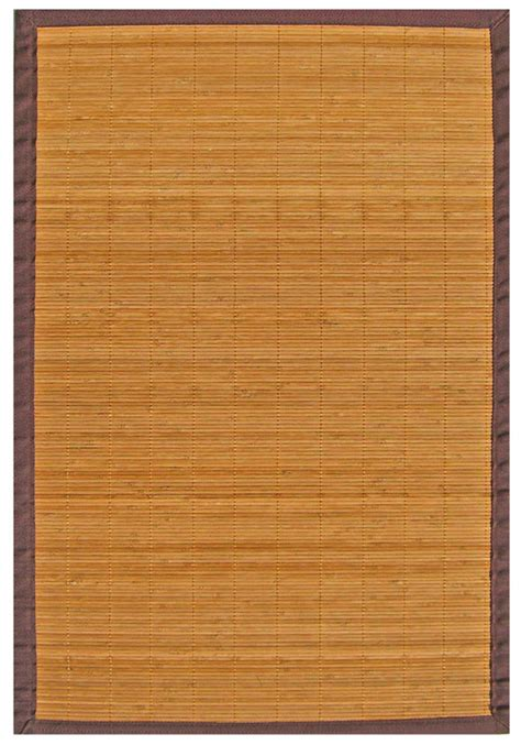 4x6 bamboo rug 4x6 anji mountain bamboo amb0010 modern bordered brown area rug approx 4 x 6 ebay