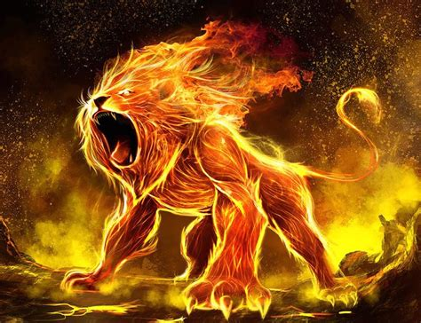ayahuasca visions transforming   lion  fire