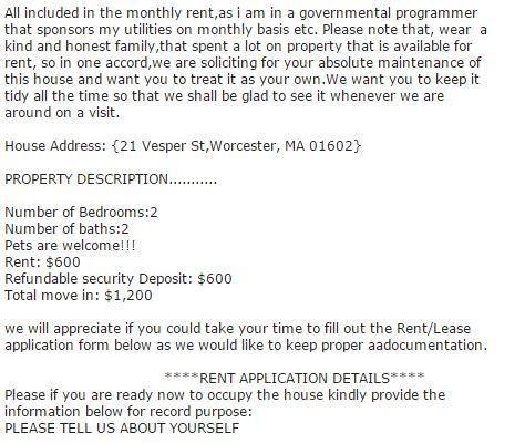 craigslist apartment rental scam masslandlordsnet