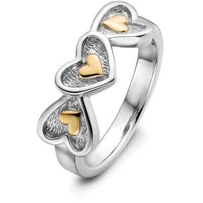 sterling silver and 14k gold mix promise ring uls 4782