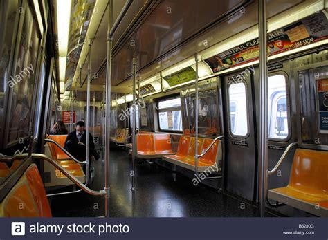 Metro New York Interieur by Interior Of New York Subway America Usa Stock Photo