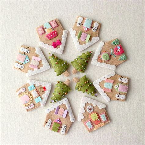 felt gingerbread pattern the most adorable gingerbread house tutorials and tips