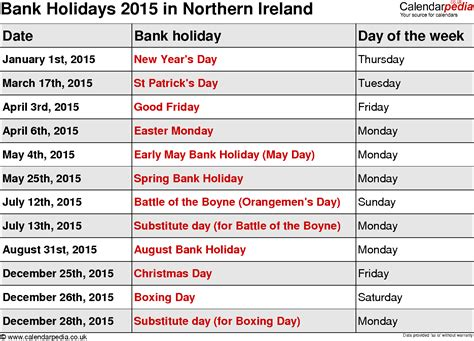 bank holidays 2015 search results for 2015 calendar with holidays ireland