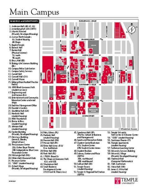 temple map philadelphia pa mappery