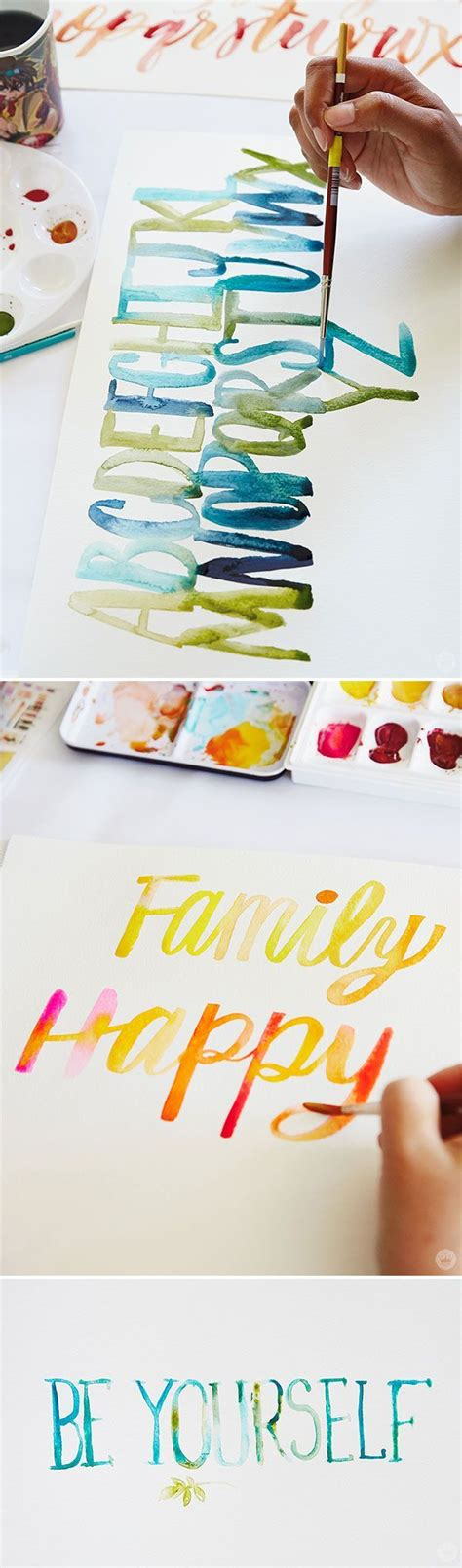 watercolor lettering tutorial watercolor lettering four techniques to try watercolor
