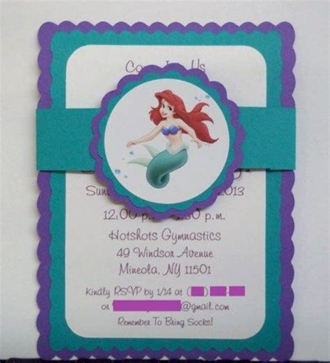 Mermaid Handmade Invitations - mermaid birthday ideas pink lover