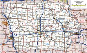 map of roads and highways large detailed roads and highways map of iowa state with