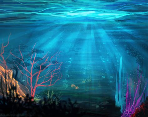 digital underwater underwater landscape by kt exreplica on deviantart