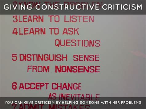 8 Tips For Giving And Receiving Criticism by Constructive Criticism Giving And Receiving By Alvaro