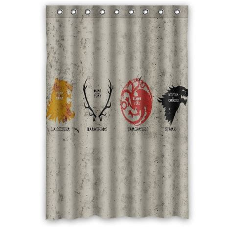 game of thrones shower curtain popular custom game of thrones family printed polyester