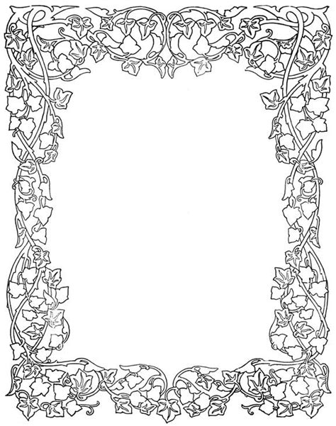 rose border coloring page free coloring pages of tudor rose border