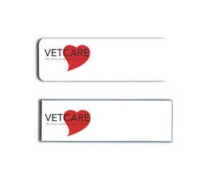 vet care pet clinic name tags and name badges