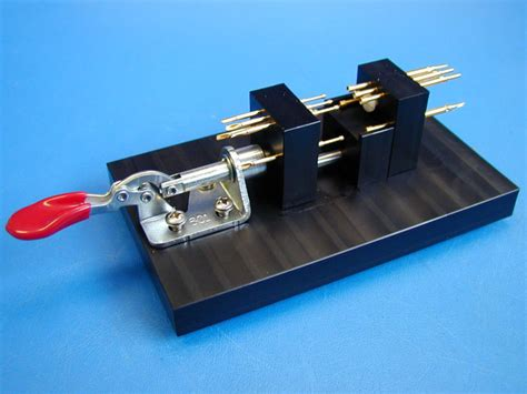 inductor test fixture horizontal pcb test fixture probes for each side of pcb kelvin