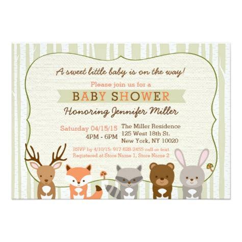 Woodland Animals Baby Shower by Featured Associate With Katz Zazzle