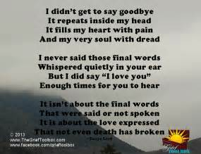 not goodbye instead i you a poem the grief toolbox