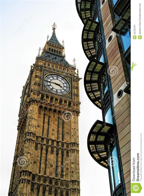 Gothic House Plans Big Ben Bell Clock Tower London Uk Editorial Photo