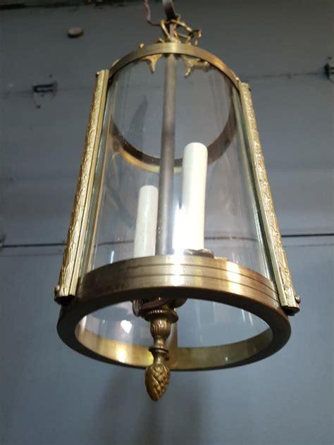 Antique Gas Light Fixtures Antique Brass Bombe Glass Gas Light Fixture Electrified 1890