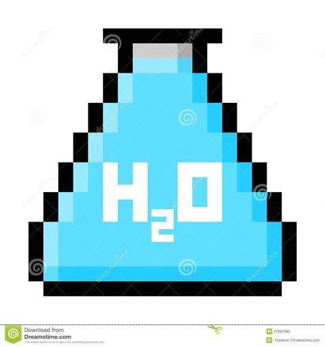 map of the united states big chemistry flask filled with water in big pixels royalty free stock photo image 27897085