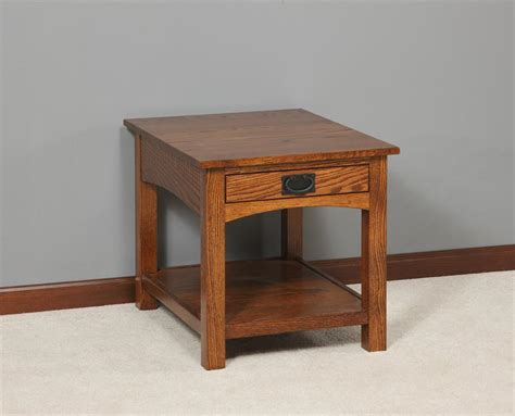 Living Room End Table Amish Mission Arched Side End Table