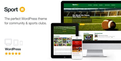 sporty free wordpress sports theme from template express sport v2 6 wordpress club theme free download free after