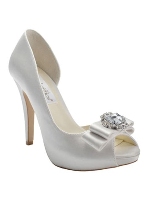 Bridal Shoes With Bow by Lace And Bow Bridal Shoes