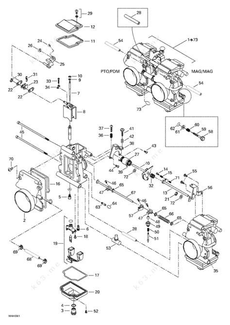skidoo parts diagram ski doo 2003 mx z rev 600 ho 800 007 special edition