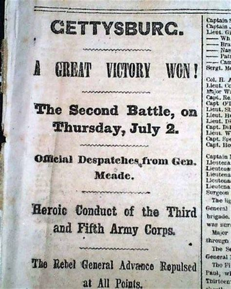records from missouri newspapers 1861 1865 the civil war years books great battle of gettysburg union victory george meade 1863