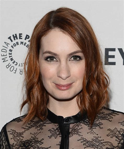 what is felicia day s natural hair color felicia day medium wavy casual hairstyle medium red hair