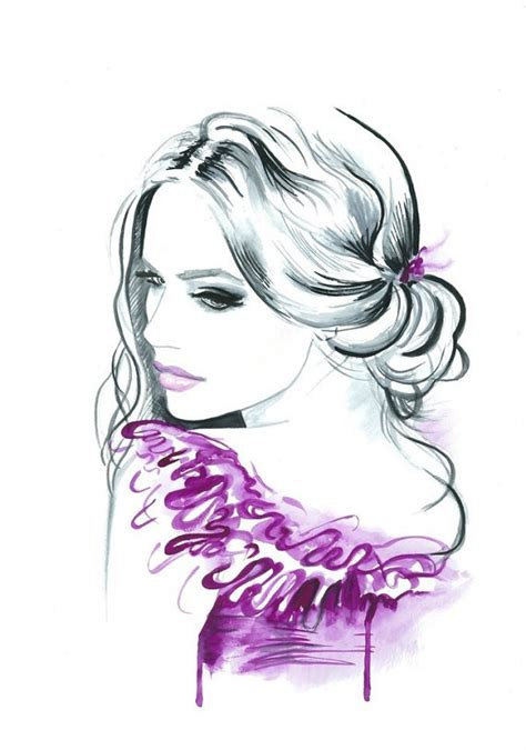 fashion illustration painting original watercolor fashion illustration modern by mysoulfly