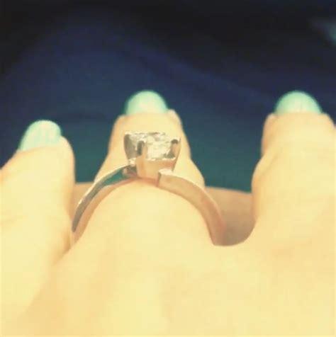 Jessa Duggar Wedding Ring Design by Jessa Duggar S 0 75 Carat Princess Cut Ring