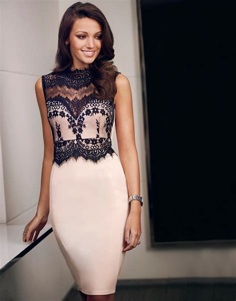 Dress Mrs Black Rq Lipsy Lace Half Sleeve Midi Dress 171 Forte Glass