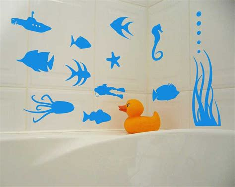 fish wall stickers bathroom store for jewelry yard art and wooden crafts