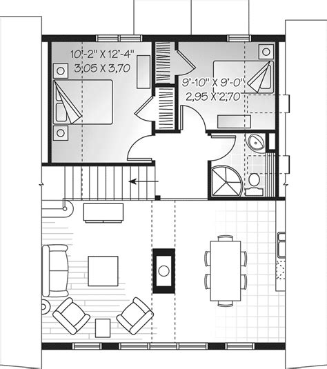 a frame house floor plans beach lake a frame home plan 032d 0534 house plans and more