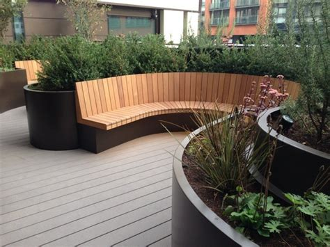 curved outdoor seating uk bespoke curved planters and seating 3 merchant square