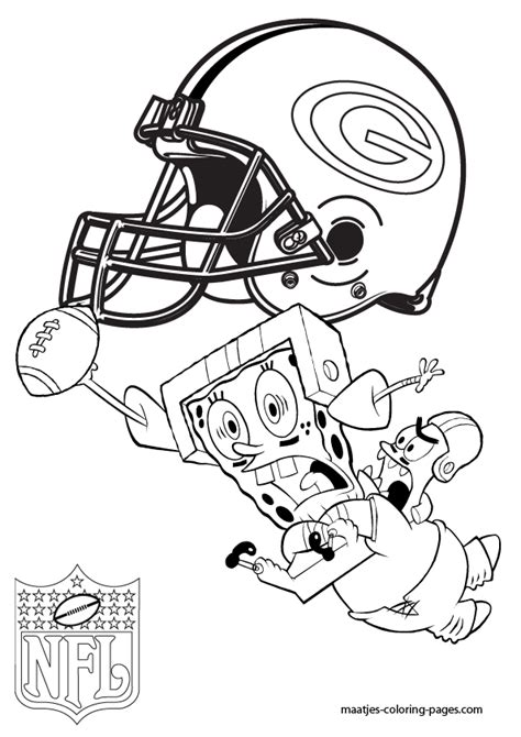spongebob nfl coloring pages green bay packers patrick and spongebob coloring pages